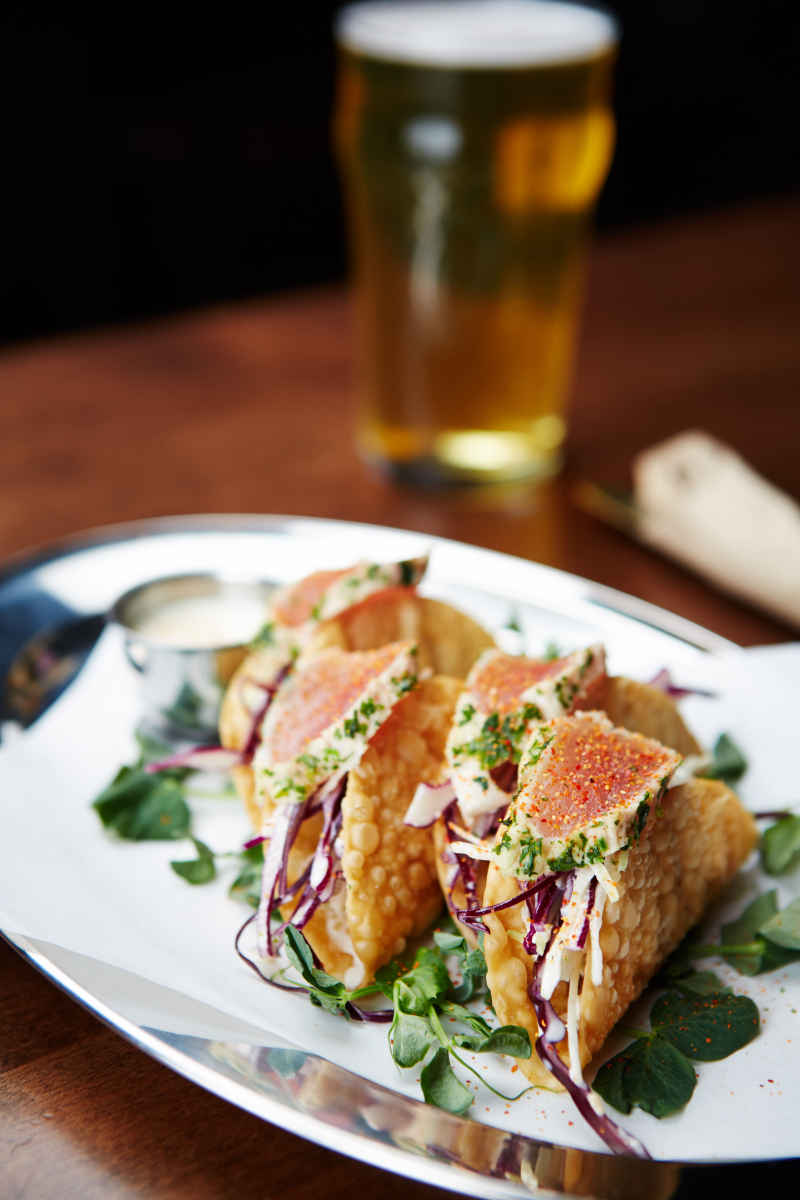 Bismarck's Tuna Tacos.