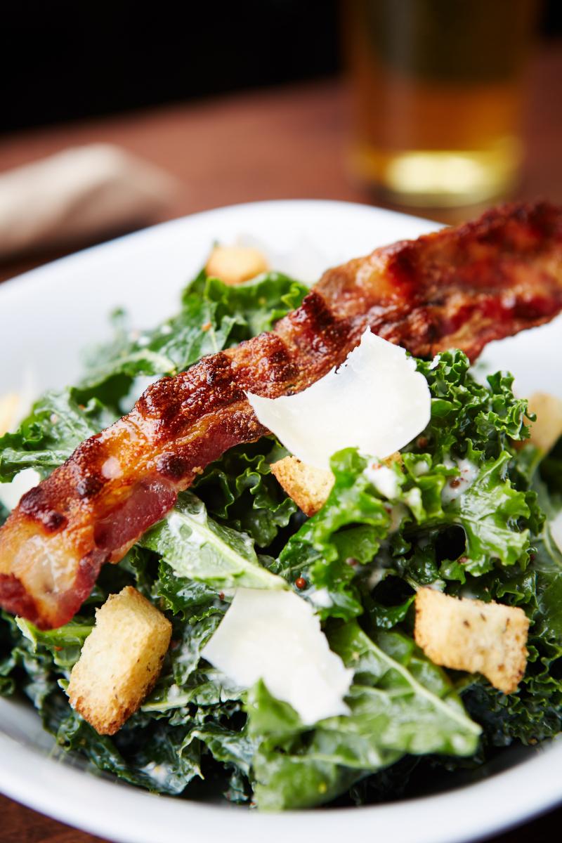 Bismarck's Kale Caesar Salad.