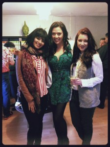From right to left: Myself with actress Aliyah O'Brien and TV Host Zara Durrani