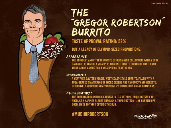 Mucho Burrito Vancouver Mayor Gregor Robertson