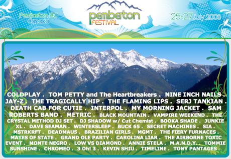 Pemberton Music Festival 2008 Lineup
