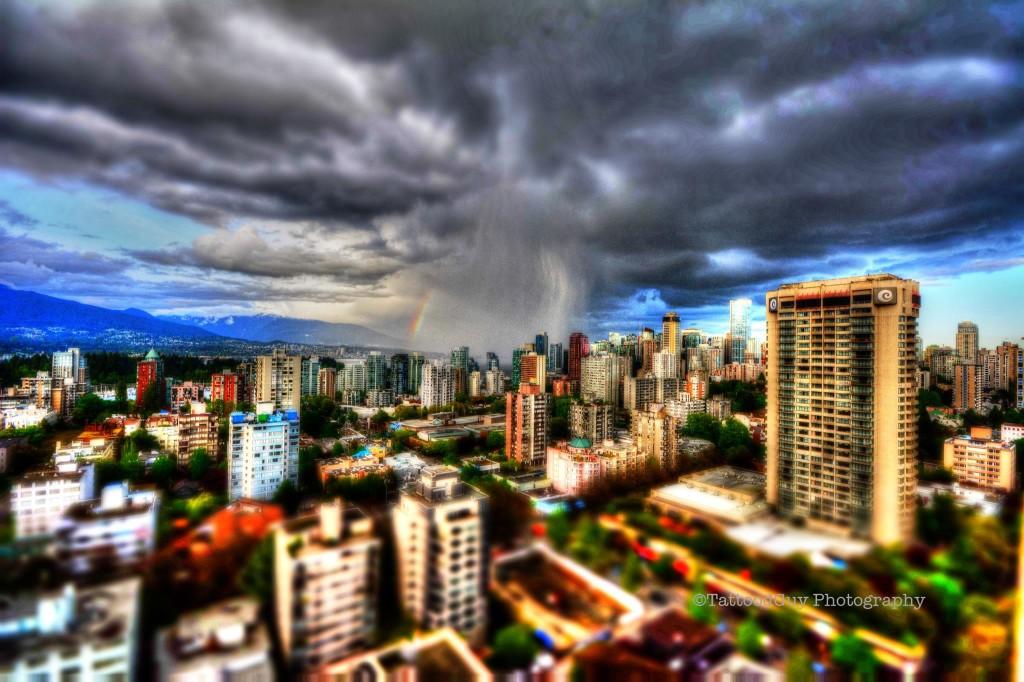 Vancouver weather storm cloud