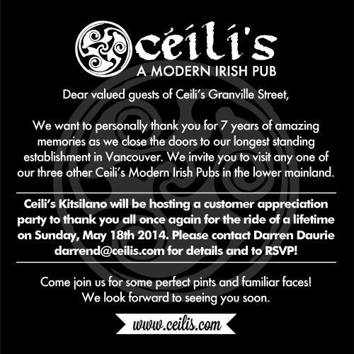 Ceili's Announcement