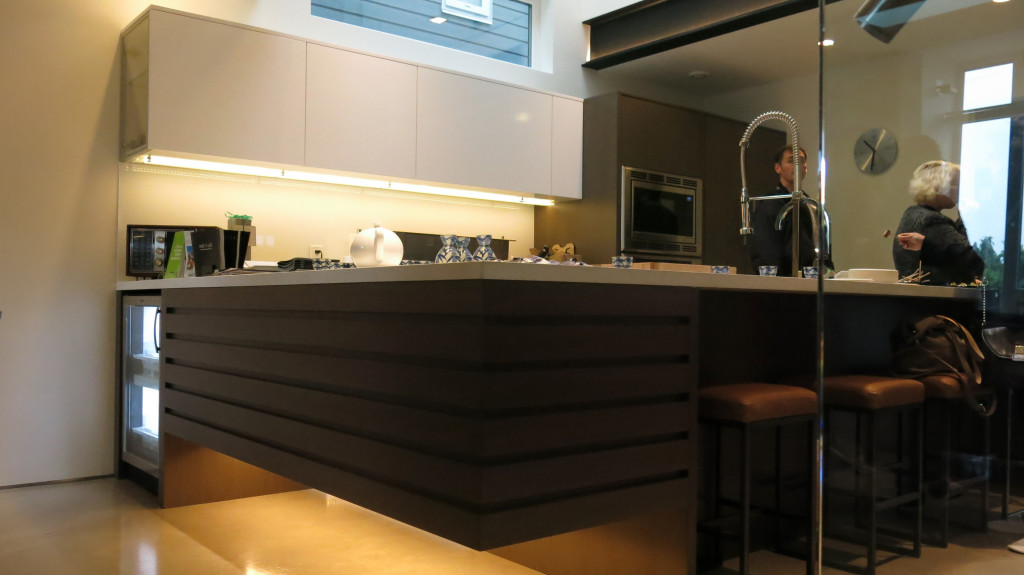 Image: Pseudo cantilever kitchen counter with Urban Cultivator to the left.