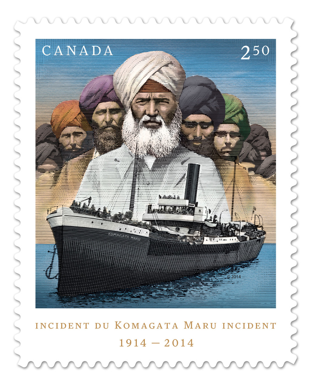 CANADA POST - 100th-year anniversary - Komagata Maru incident