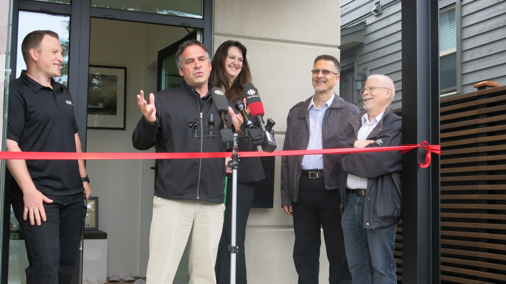 Image: City of North Vancouver Mayor Darrell Mussatto is proud to witness the completion of the home dubbed one of Canada's greenest homes.