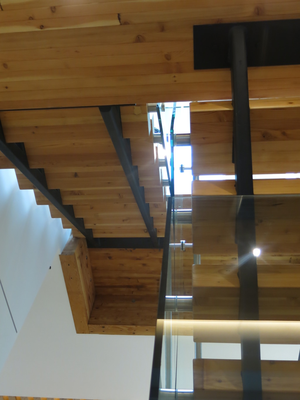 Image: Elegant use of reclaimed timber, steel, and glass