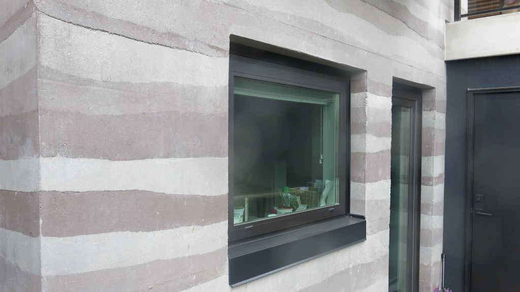 Image: Rammed Earth Walls is actually an ancient building method, still proven to be a sustainable and natural building process for thousands of years.