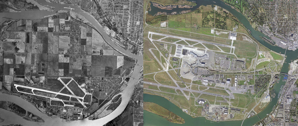 YVR 50 Years Before & After Vancouver International Airport