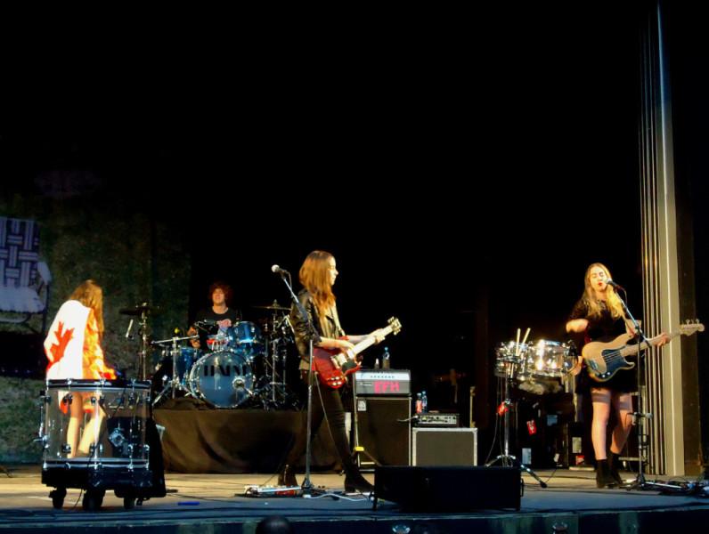 Haim at Malkin Bowl, credit Paula Smith