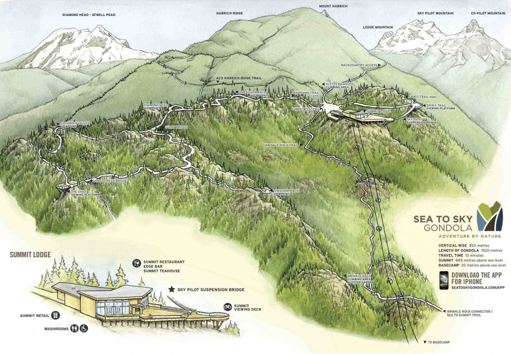 Sea to Sky Gondola Map Squamish