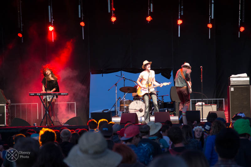 Houndmouth on the Yeti stage at Sasquatch 2014