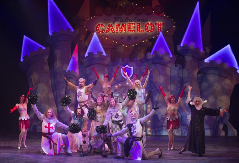 The cast of Monty Python's Spamalot