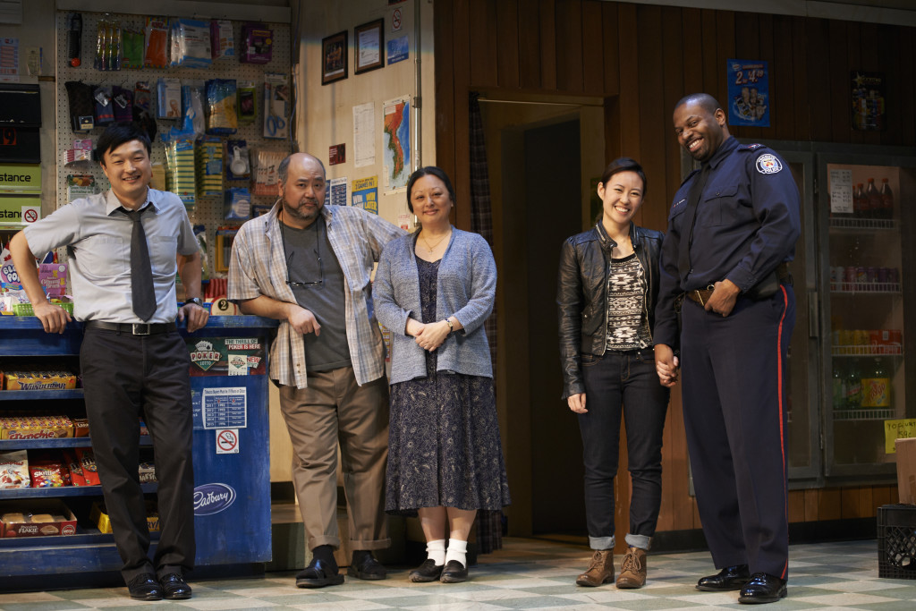 The cast of Kim's Convenience. Photo by Bruce Monk