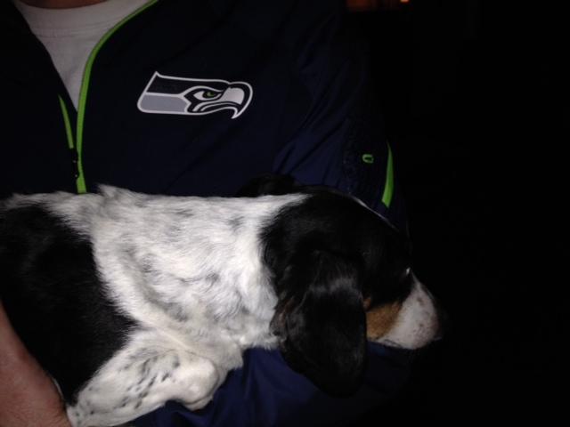Max, a big Seahawks fan.