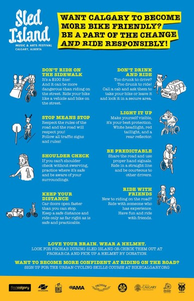 Sled Island Bicycle Safety Infographic