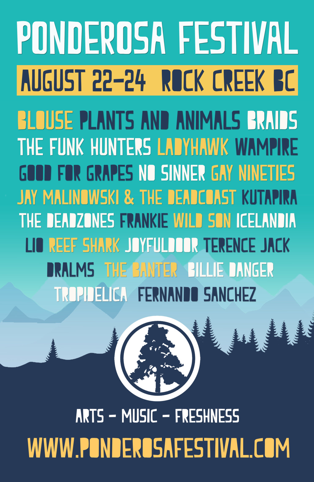 Ponderosa Festival Lineup
