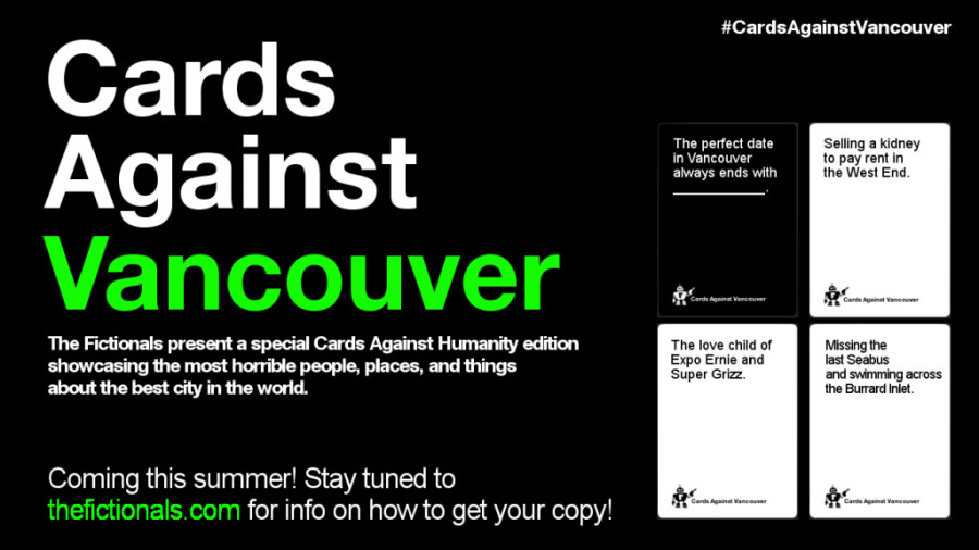 Cards Against Vancouver poster NEW