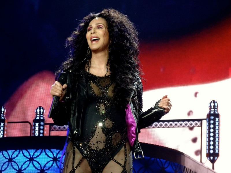 Cher, dressed to thrill in Vancouver.