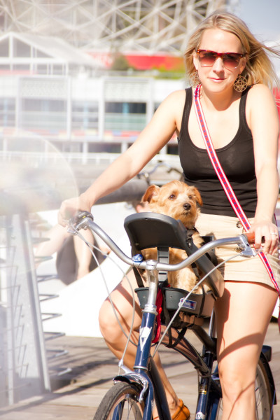Yours truly cruising on the Buddyrider with my dog Murph. (Photo courtesy Fur Portraits)