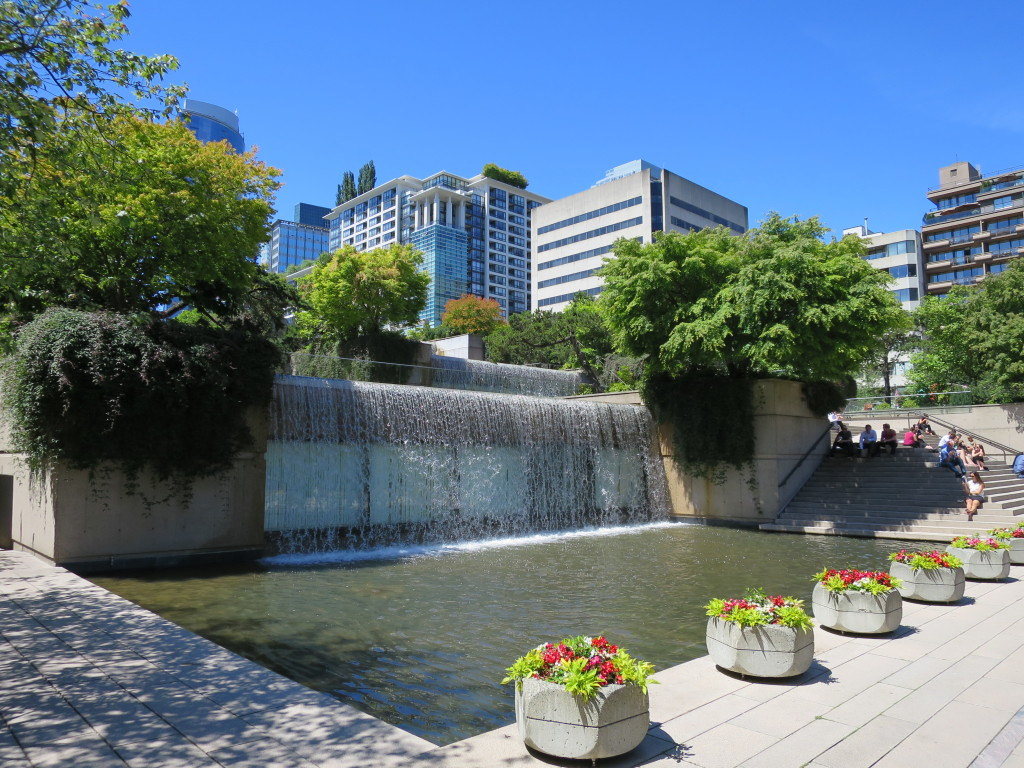Robson Square Courthouse Water Fountain