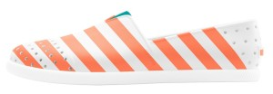 Verona Slip-ons in Cantaloupe Pink and Shell White