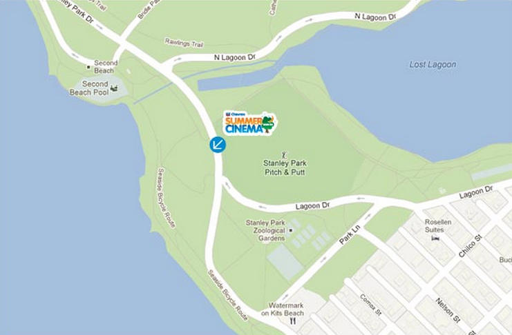 Free Outdoor Movies Stanley Park Map