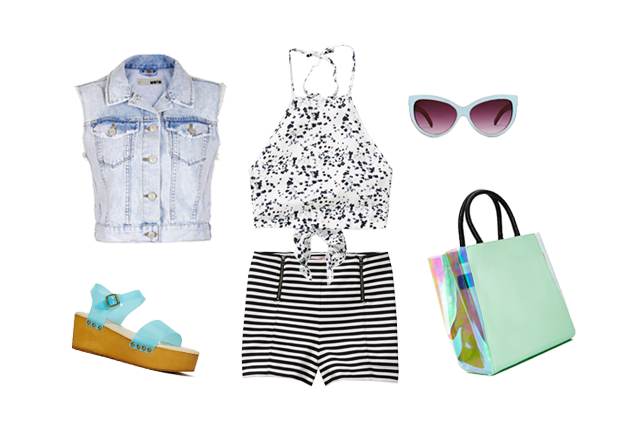Mixing prints, festival fashion
