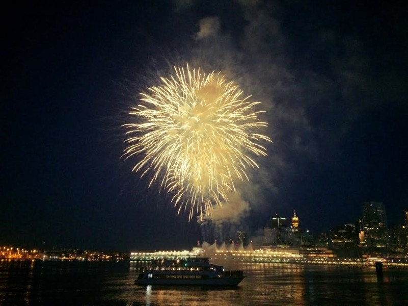 Vancouver fireworks Coal Harbour