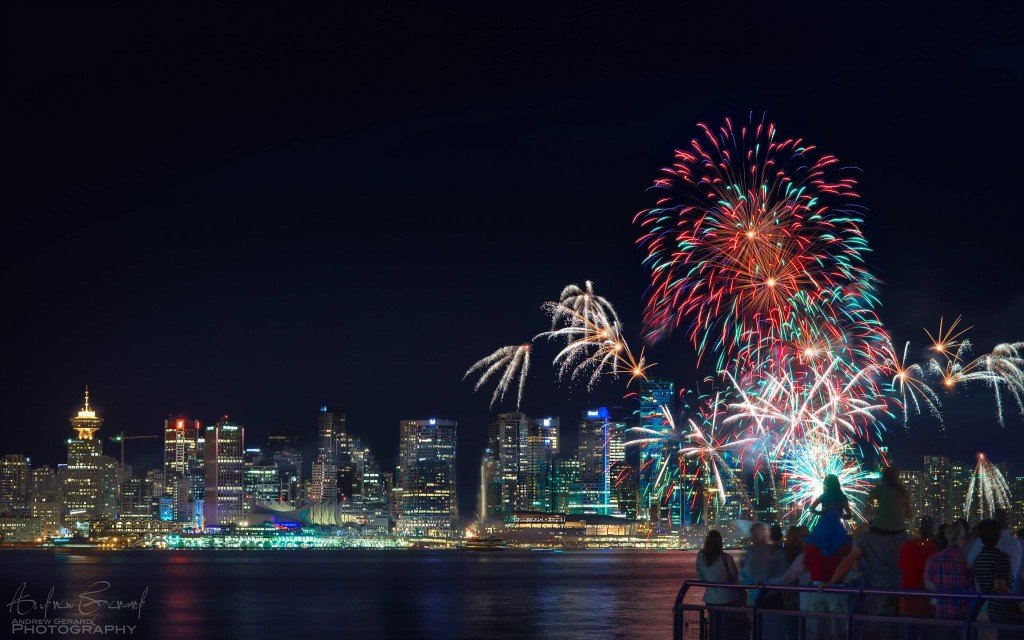 Canada Day fireworks Vancouver