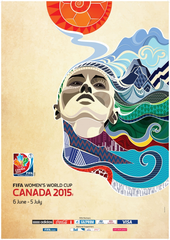 2015 fifa women's world cup canada poster