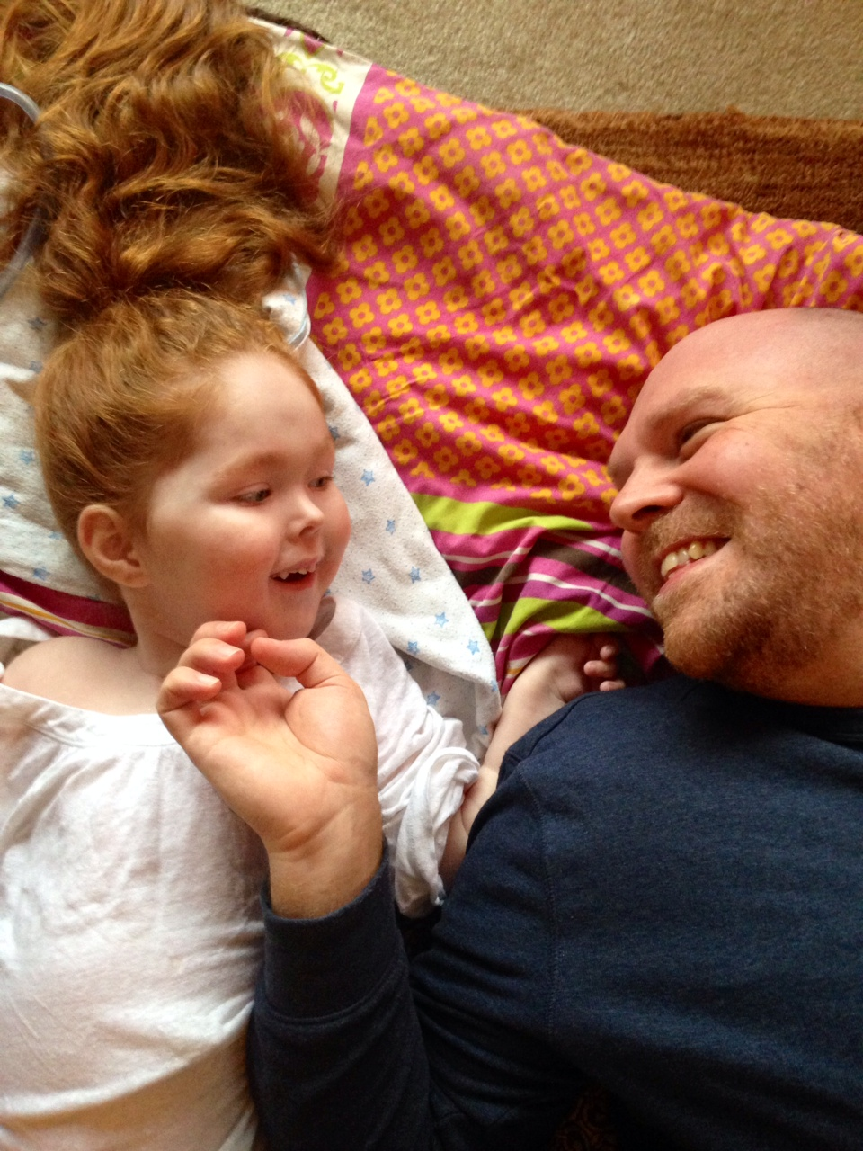 Charlie-Anne with dad