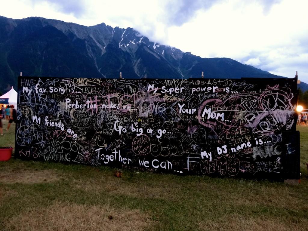 Pemberton Music Festival 2014 Graffiti Wall