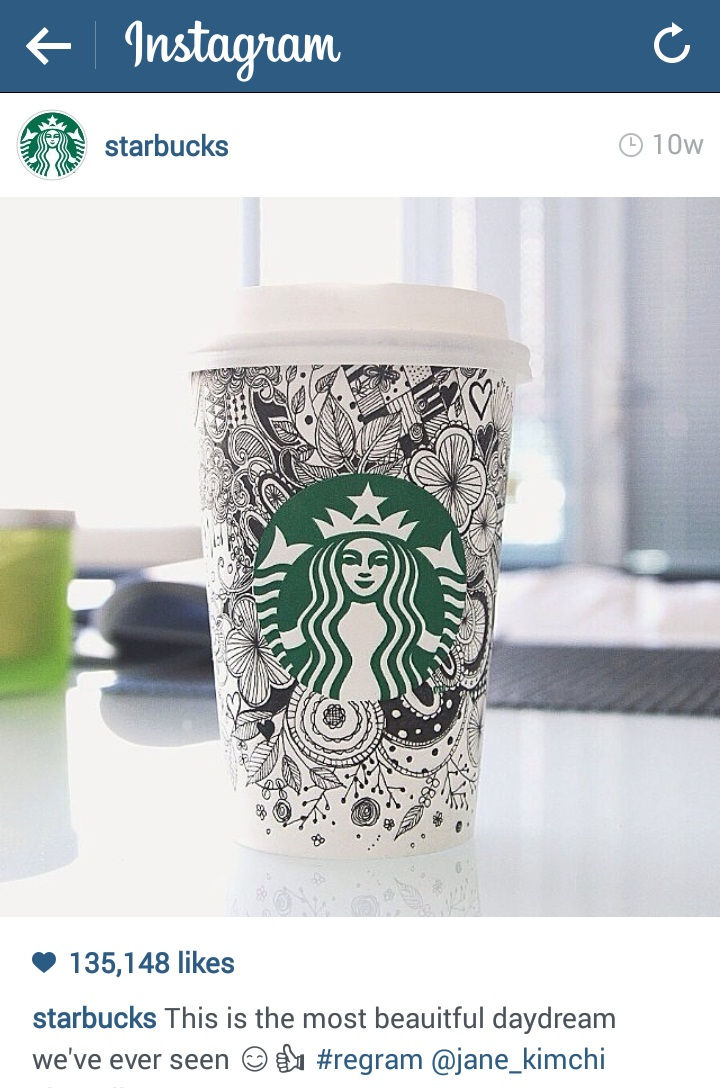 Jane Kim Starbucks cup