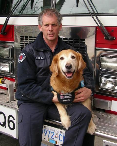 Cooper and handler Captain Flynn Lamont.