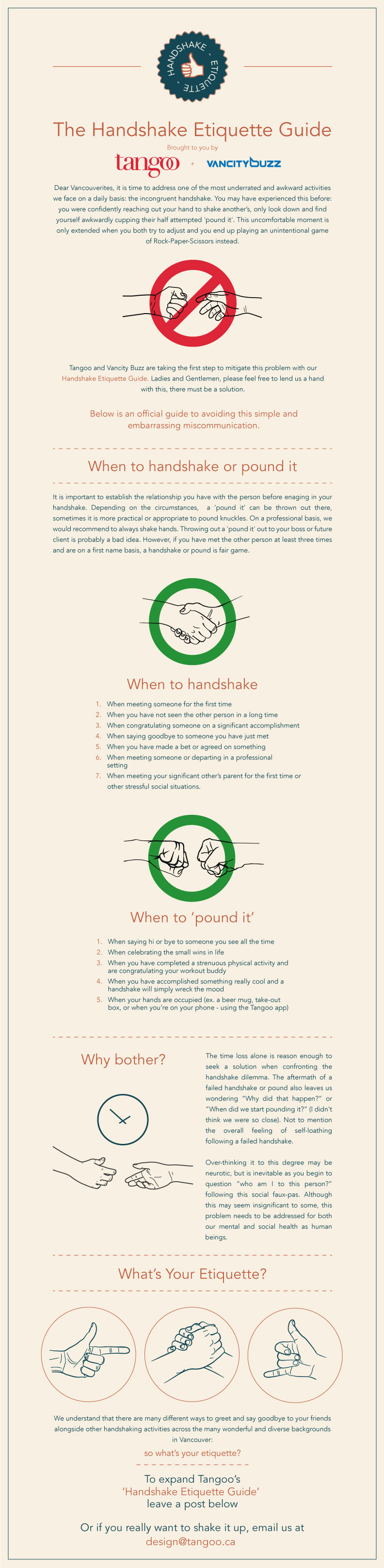 The Handshake Etiquette Guide brought to you by Tangoo