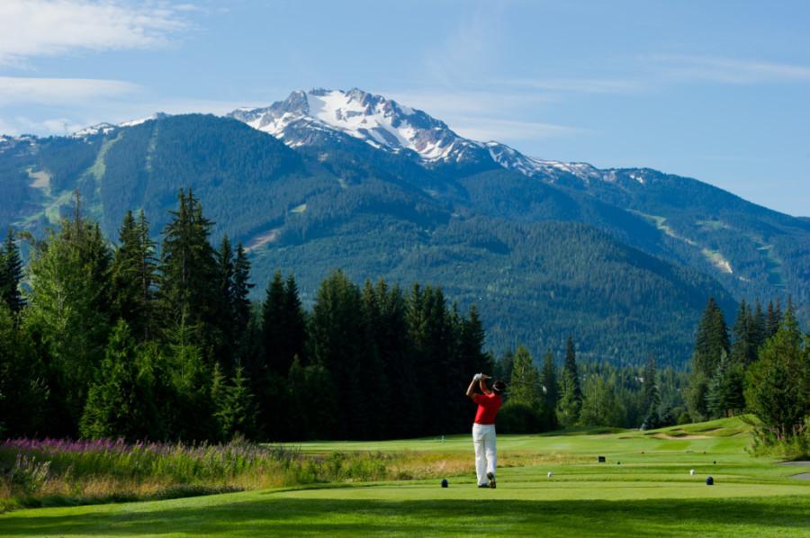 Golfing at Nicklaus North, Whistler, BC