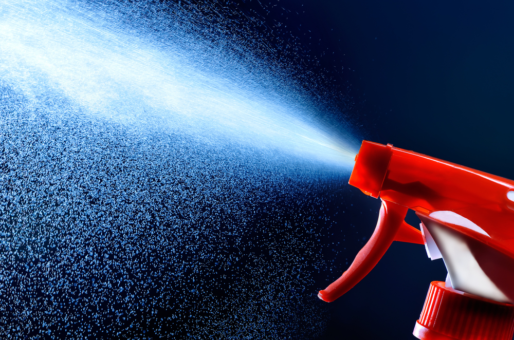 spray bottle / shutterstock