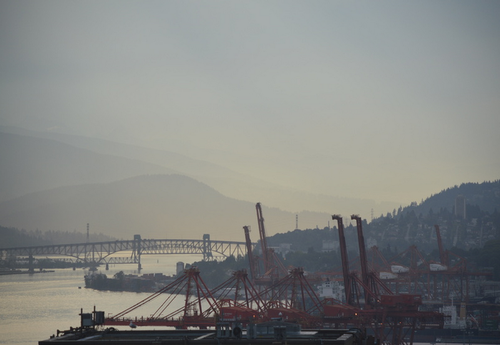 Hot weather air pollution Vancouver