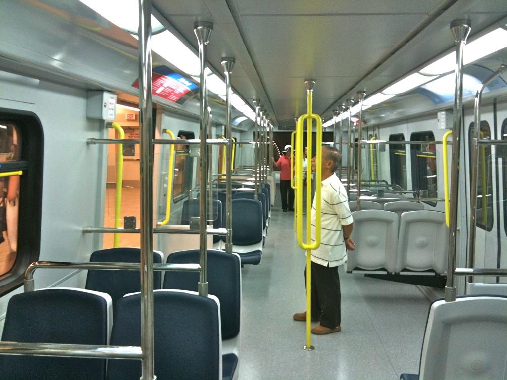 Canada Line train interior SkyTrain