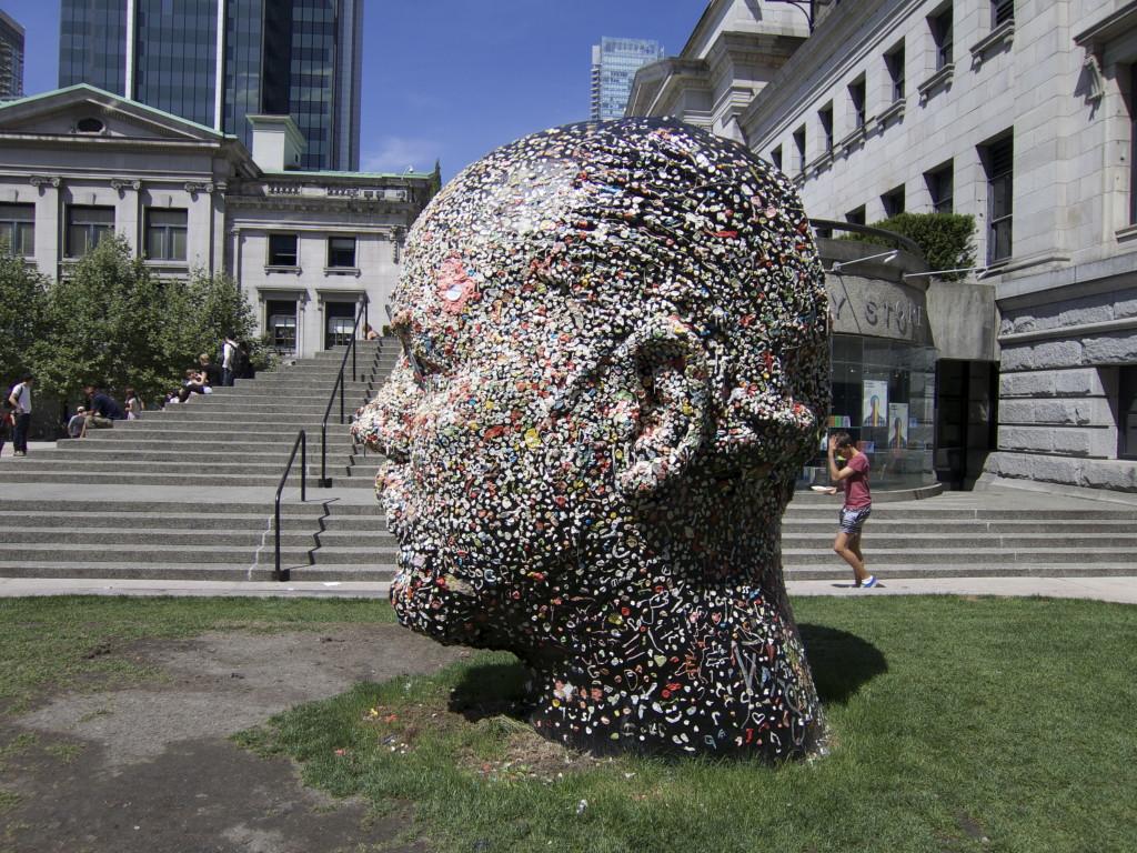Gumhead Chewed Gum Public Art Douglas Coupland Vancouver Art Gallery