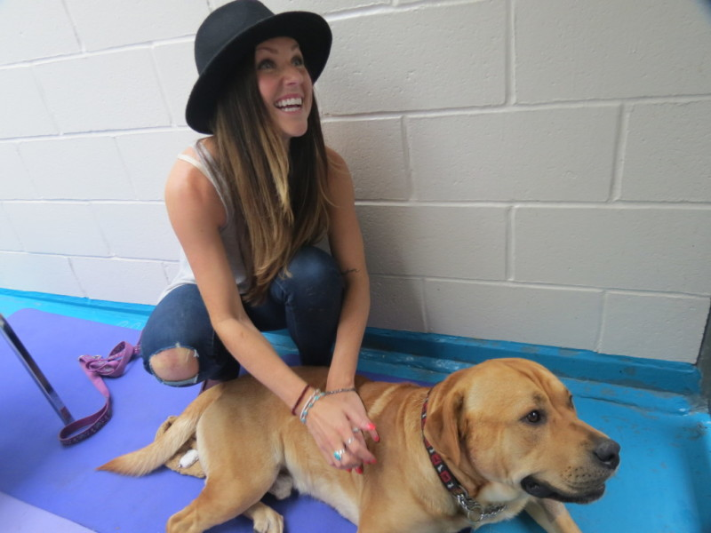 Rock 101 morning show host Alece Anderson locked up at the SPCA.