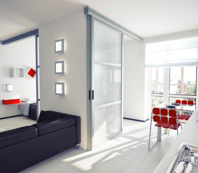 modern style apartment concept.  illustration