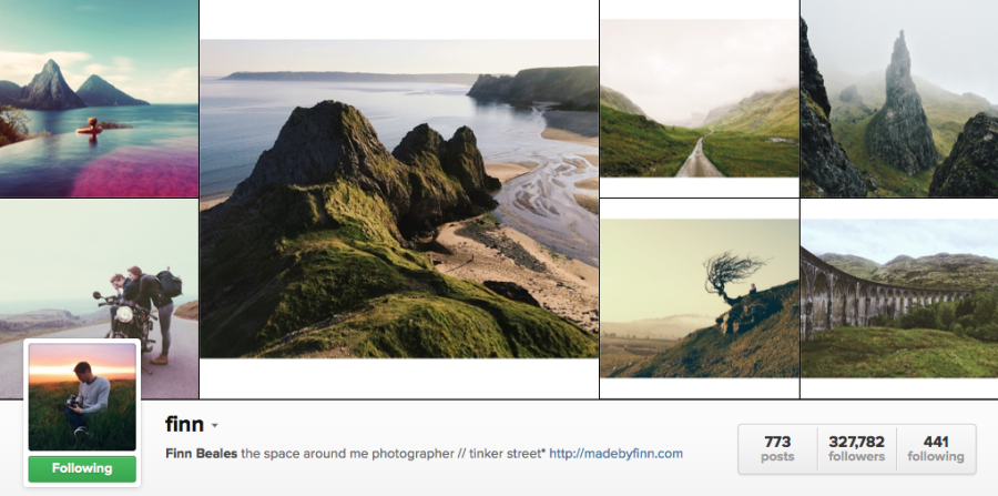Instagram travel photography