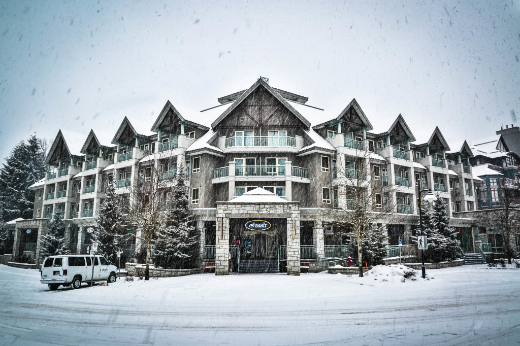 Summit Lodge Daytime Exterior Winter