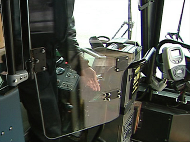 bus driver protection shield