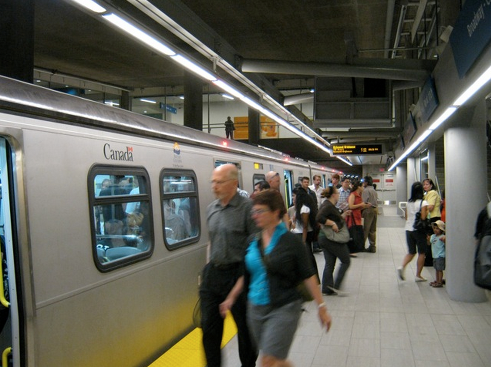 canada line broadway city hall station skytrain
