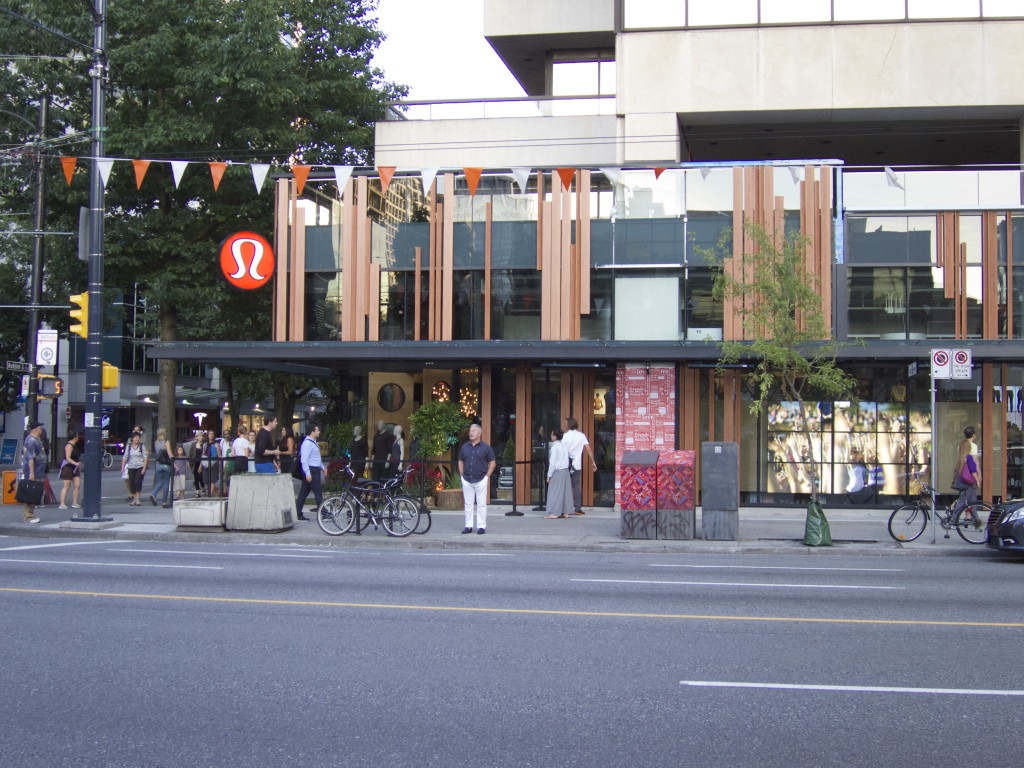 lululemon athletica burrard robson vancouver flagship store 2