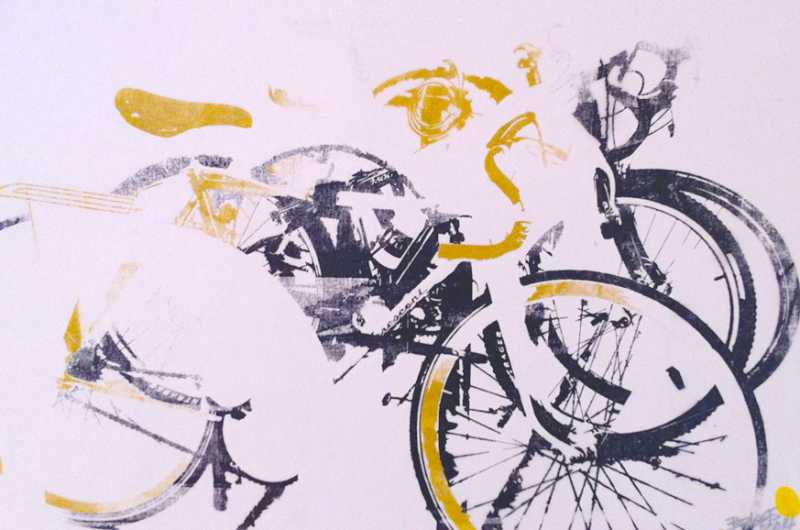 AndrewBriggs_Golden_Bikes_on_a_Rack