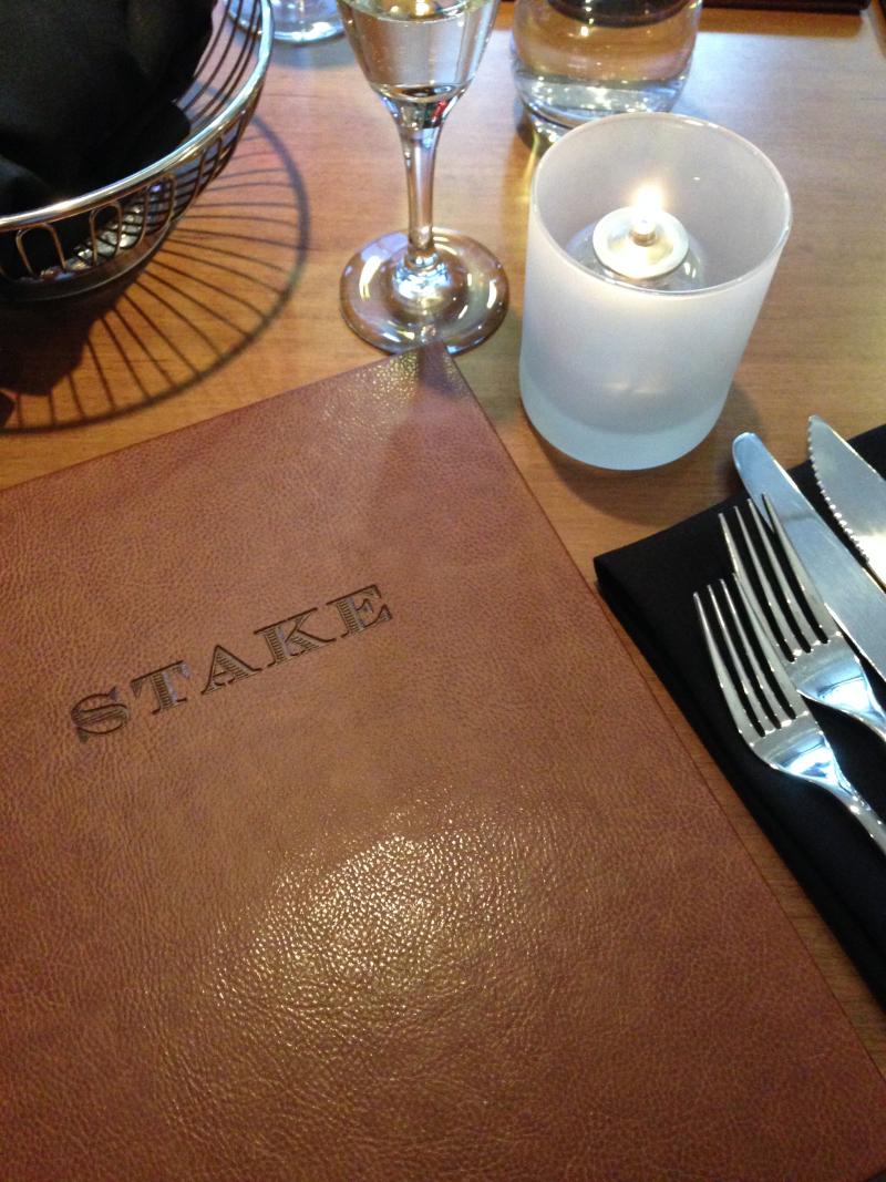 Stake Restaurant's new menu. (Photo: Laura Lefurgey-Smith)